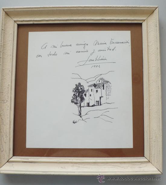 DIBUJO A TINTA FIRMADO SANTIBAÑEZ (Arte - Dibujos - Contemporáneos siglo XX)
