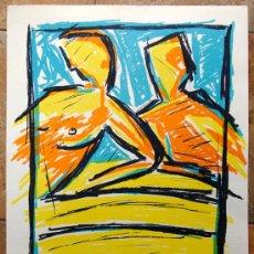Arte: PINTURA FIRMADA Y NUMERADA. R. ARELLANO - ARTE VINTAGE - GRAN TAMAÑO. Lote 27416075