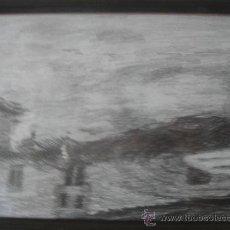 Arte: CARBONCILLO S/PAPEL DE ÁNGEL PEÑUELA NAVARRETE -REFLEJOS DEL ALHAMBRA-,ENMARCADO. 32.5X24.5. Lote 27436459