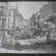 Arte: CARBONCILLO S/PAPEL DE ÁNGEL PEÑUELA NAVARRETE -FIRMADO.- PEÑUELA-,ENMARCADO. 32.5X24.5. Lote 27436460