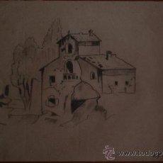 Arte: ALFONSO COSTA BEIRO - DIBUJO ACADEMICO - IGLESIA.. Lote 26815464