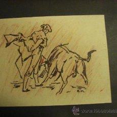 Arte: DIBUJO DE VALENTÍN ROGER MORAGAS. TAMAÑO DE 26,50X20,50 CM.. Lote 22261556