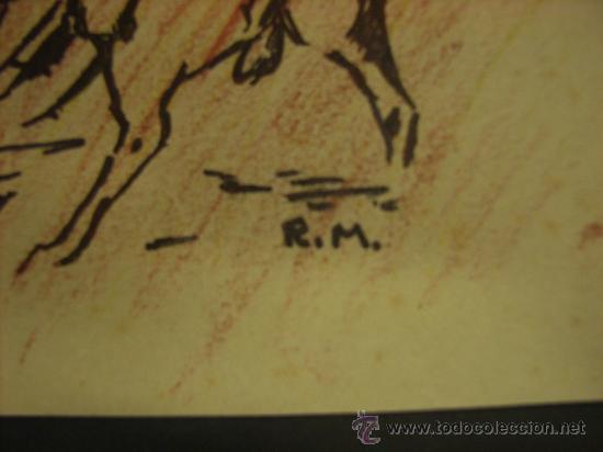 Arte: Dibujo de Valentín Roger Moragas. Tamaño de 26,50x20,50 cm. - Foto 2 - 22261556