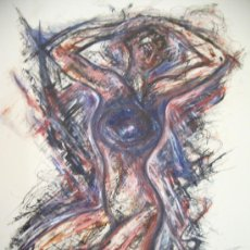 Arte: JAVIER CIRIA PINTOR ARAGONES TECNICA MIXTA SOBRE CARTULINA. Lote 27418432