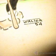 Arte: DIBUJO FIRMADO WALIER 54. Lote 22394311