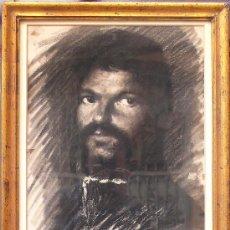 Arte: RETRATO DE PERSONAJE, DIBUJO AL CARBÓN. FIRMADO: TRUCO. 38 X 53 CM. VER REVERSO CON NOTAS. Lote 22561101