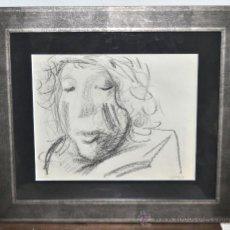 Arte: JORGE CASTILLO CASALDERREY. DIBUJO A CARBÓN FIRMADO PROCEDENTE DE LA GALERIA ANDRÉ SCHOELLER D PARIS. Lote 26092005