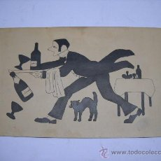 Arte: DIBUJO ORIGINAL SOBRE CARTÓN DE 30 X 18 CMS . SIN FIRMA. Lote 26181821