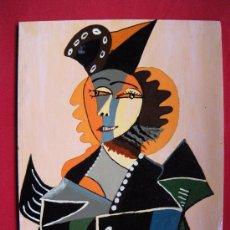 Arte: ACRILICO SOBRE TABLA COPIA PICASSO. Lote 23009081
