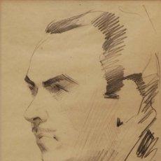 Arte: RETRATO DECICADO A JUAN BANDERA PEREZ POR FRANCISCO LOPEZ HERNANDEZ LAPIZ SOBRE PAPEL (1932). Lote 23159176