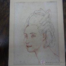 Arte: F.B. RETRATO DE DAMA. SGLO XVIII. Lote 26905635