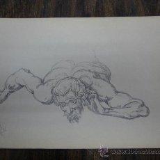 Arte: BARBA. HOMBRE ACOSTADO.. Lote 26905732