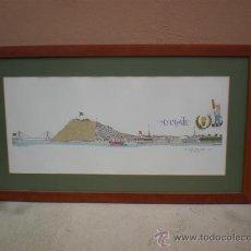 Arte: CUADRO DIBUJO DE AYAMONTE - HUELVA. Lote 23426224