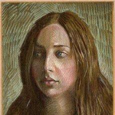 Arte: EXTRAORDINARIO DIBUJO ORIGINAL ( NO IMPRESION ) -- RETRATO FEMENINO. Lote 27509658