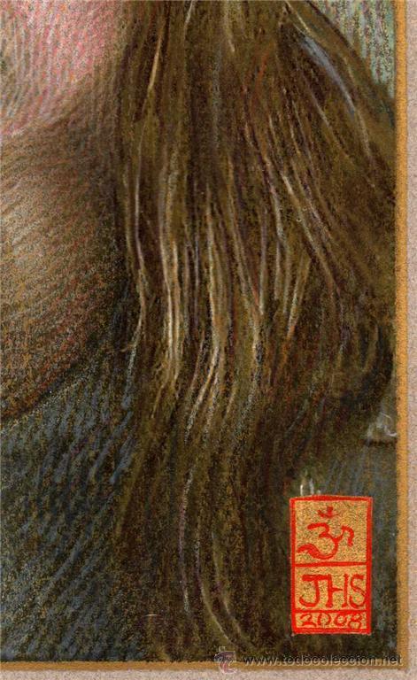 Arte: EXTRAORDINARIO DIBUJO ORIGINAL ( NO IMPRESION ) -- RETRATO FEMENINO - Foto 3 - 27509658