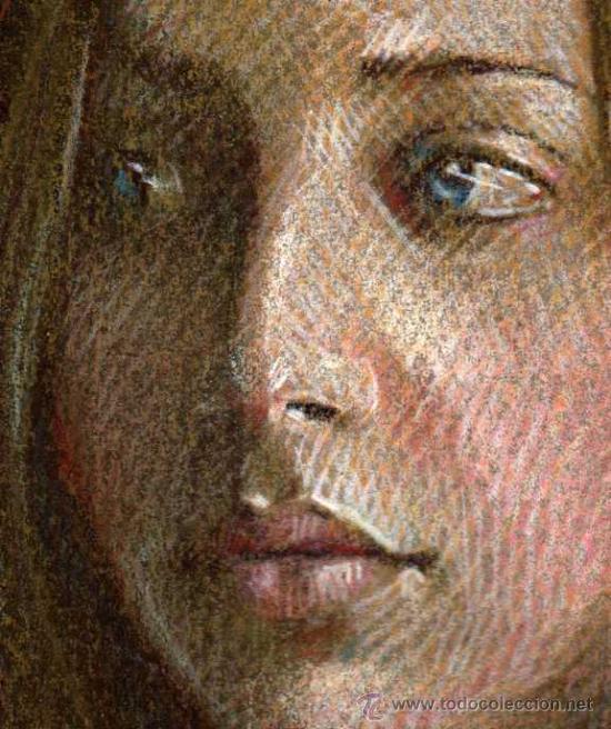 Arte: EXTRAORDINARIO DIBUJO ORIGINAL ( NO IMPRESION ) -- RETRATO FEMENINO - Foto 4 - 27509658