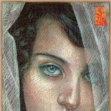 Arte: EXTRAORDINARIO DIBUJO ORIGINAL ( NO IMPRESION ) -- RETRATO FEMENINO. Lote 134378345