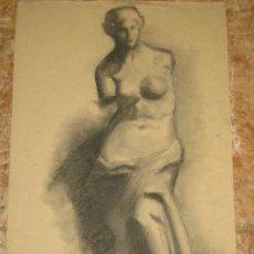 Arte: MANUEL MUCIENTES (1887-1960). IMPRESIONISTA. RETRATO CLASICO. CARBONCILLO SOBRE PAPEL. FIRMADO. Lote 24614285