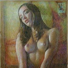 Arte: EXTRAORDINARIO DIBUJO ORIGINAL ( NO IMPRESION ) -- DESNUDO FEMENINO. Lote 26453245