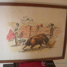 Arte: PRECIOSA PLUMILLA TAURINA ( ANTIGUA Y FIRMADA ) F. BEJAR. Lote 54794553
