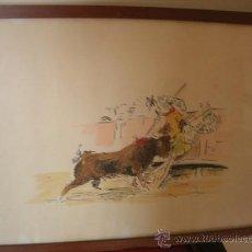 Arte: PRECIOSA PLUMILLA TAURINA ( ANTIGUA Y FIRMADA ) F. BEJAR. Lote 27414836