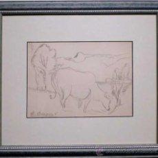 Arte: DIBUJO GRAFITO DE DIONIS BAIXERAS (1862-1943). Lote 26167239