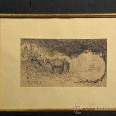 Arte: DIBUJO A TINTA, INICIALES L.B., AÑO 1866. Lote 24826409