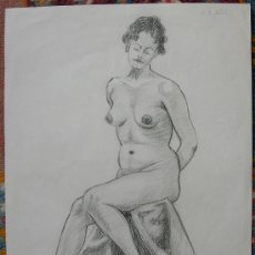 Arte: BELLO DESNUDO FIRMADO POR JOS. AUGUSTIN - DATADO EN 1955 - BELLA OBRA. Lote 26361401