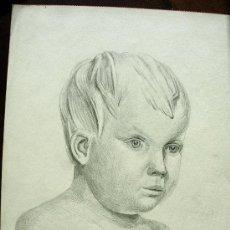 Arte: BELLO DIBUJO DE ADOLF HASLAUER - BELLA OBRA - FIRMADO Y DATADO EN 1921. Lote 26336188