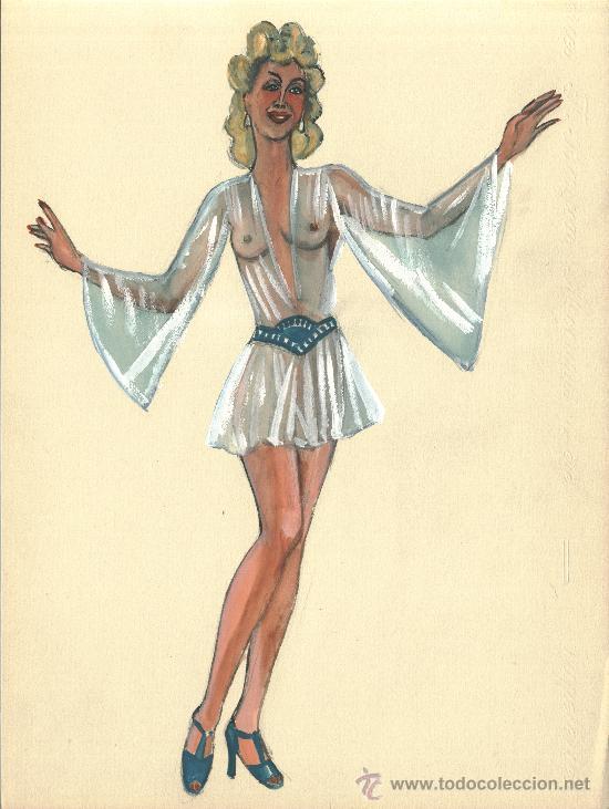 Burlesque Vestido Transparente