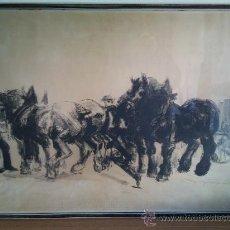 Arte: EXCELENTE DIBUJO A CARBONCILLO ENMARCADO AÑO 1933 FIRMADO .. Lote 25220879