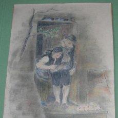 Arte: PRECIOSO DIBUJO COLOREADO DATADO EN 1946 Y FIRMADO EN MONOGRAMA - BELLA OBRA. Lote 26852556