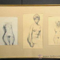 Arte: DIBUJOS A LAPIZ DE A.MIRAVALLS BOVE, AÑO 1963. Lote 25661330