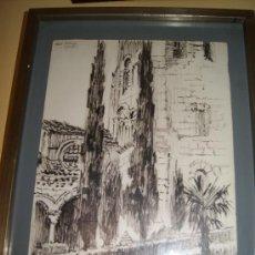 Arte: PRECIOSO DIBUJO A TINTA DE EL MUSEO ZULOAGA DE SEGOVIA /FIRMADO Y DEDICADO HERRAEZ . Lote 25674285