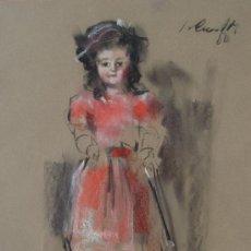 Arte: JAUME QUERALT 1980 - PASTEL - 56 X 46 CM - MUÑECA ANTIGUA.. Lote 26101877