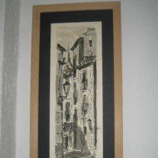 Arte: MARTIN HIDALGO 73. CALLE DEL BUNETILLO.MADRID. OBRA ORIGINAL Y FIRMADA. Lote 26115919