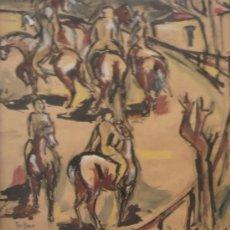 Arte: MARIO BEDINI. PINTOR NACIDO EN ITALIA EN 1936, RESIDE EN BARCELONA, FECHADO EN 1961 EN GENOVA. Lote 27603756