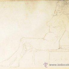 Arte: DIBUJO, MUJER POSANDO, FIRMADO LLUIS FLOTATS. Lote 26401762