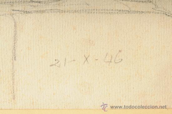 Arte: Dibujo, mujer posando, firmado Lluis Flotats - Foto 4 - 26401762