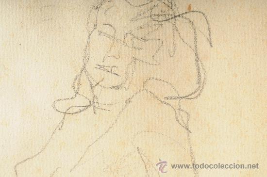 Arte: Dibujo, mujer posando, firmado Lluis Flotats - Foto 5 - 26401762