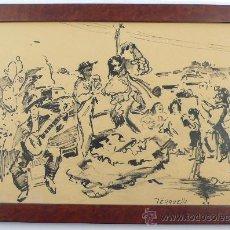 Arte: JOAQUÍN TERRUELLA MATILLA (1891-1957), DIBUJO EN TINTA SOBRE PAPEL FECHADO EN 1952. 24X33 CM.. Lote 26742102