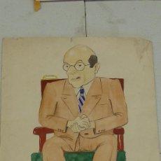 Arte: JOAQUIM LLINAS. CARICATURA ACUARELADA SOBRE CARTULINA.. Lote 27007006
