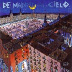 Arte: DE MADRID AL CIELO. CUADRO EN MADERA ARTE NAIF. PLAZA MAYOR. 70 X 50 CM. Lote 205188098