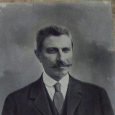 Arte: RETRATO CABALLERO CARBONCILLO. FIRMADO J.R.VIDAL AÑO 1919. Lote 27318593