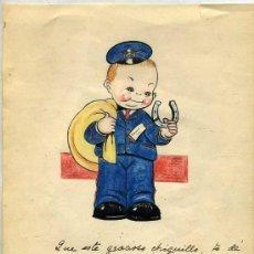 Arte: DIBUJO SOBRE PAPEL FIRMADO CONCHITA, FECHADO EN BARCELONA EN 1938. Lote 27369497