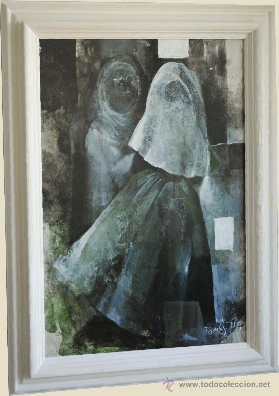 PAU FORNÉS (MALLORCA, 1930 - 2006) 1974, MONJAS, BALEARES (Arte - Dibujos - Contemporáneos siglo XX)