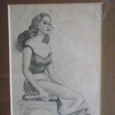 Arte: DIBUJO A LAPIZ DE FRANCISCO GUINART CANDELICH. Lote 27654039