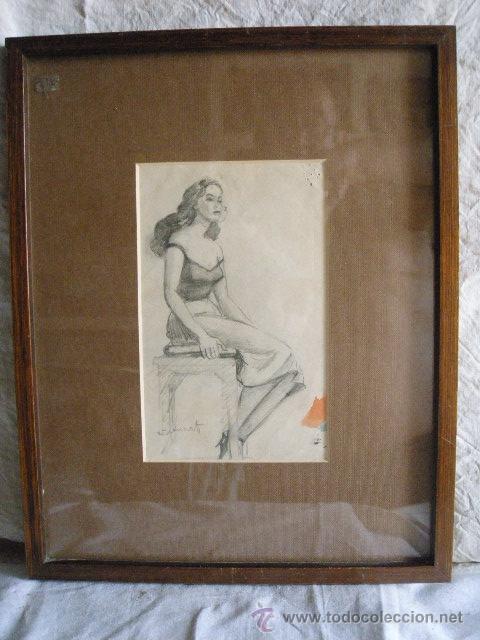 Arte: DIBUJO A LAPIZ DE FRANCISCO GUINART CANDELICH - Foto 5 - 27654039