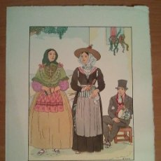 Art: IBIZA - BALEARES - TRAJE REGIONAL DIBUJADO POR D'IVORI - AÑO 1936. Lote 27828900
