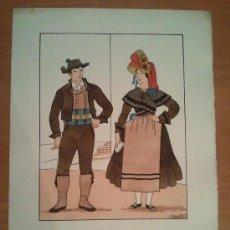 Arte: CACERES - EXTREMADURA - TRAJE REGIONAL DIBUJADO POR D'IVORI - AÑO 1936. Lote 27829215